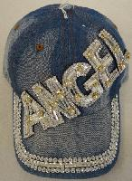 Denim Hat with Bling [ANGEL] Silver